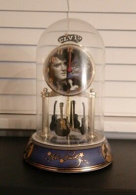Elvis Presley Collectible Porcelain Anniversary Clock Signature Product