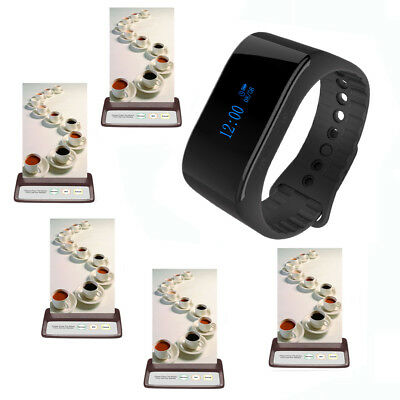 EZISERV cafe wireless call button and digital watch PACKAGE