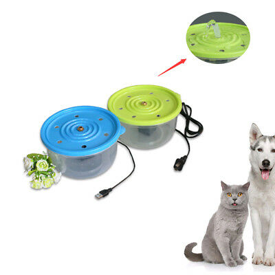 Automatic Pet Water Fountains For Dog Cat Rabbit Drinking 1.3L Bowl Dish Filter