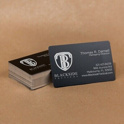 100 Anodized Aluminum Business Card Blanks - Laser Engraver, Round Corners, USA!