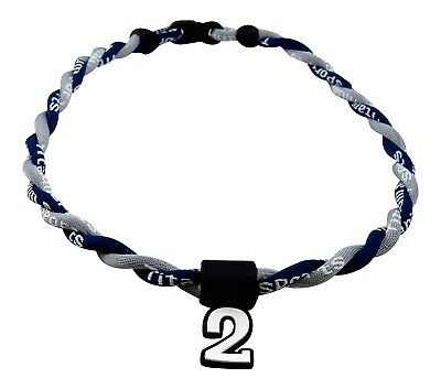 (Navy Gray) - Pick Your Number - Twisted Titanium Sports Tornado Necklace