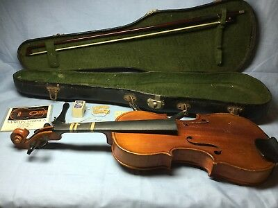 Vintage Copy of Antonius Stradivarius Violin Made In Germany w/ Case