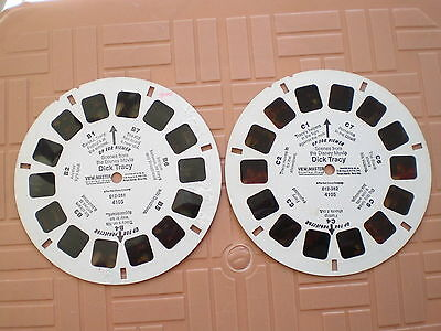 2 view master reels B and C. Dick Tracy with some bubble damages on reel B
