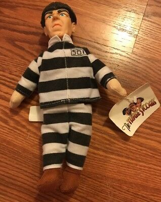 "The Three Stooges Prisoner Moe 10"" Plush Doll Comedy Ent 1999"