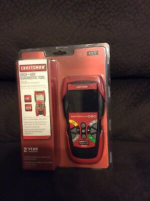Craftsman 47177 OBD2 + ABS Diagnostic Tool for 1996 - Current Vehicles - NEW