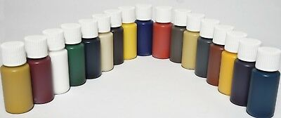 Leather pigment Complete Set 15ml Each