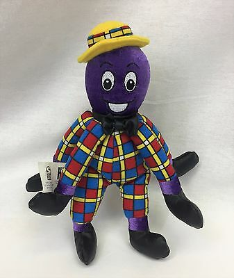 "Wiggles Henry The Octopus Purple 8"" Bean Bag Plush Stuffed Toy Spin Master 2003"