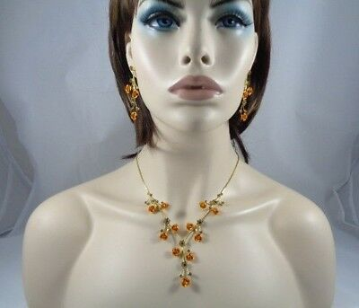 necklace in flowers GOLD / TOP-Bridal_Fashion