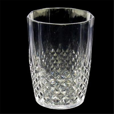 12x Reusable Acrylic Tumbler Cup Clear Plastic Water Drinking Glass Drink