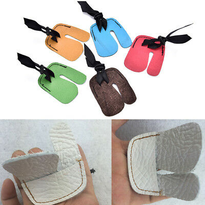 1pc Finger Tab Guard Protector Glove Cow PU Leather Archery Shooting Hunting Bow