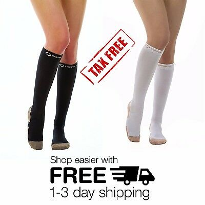 Copper Compression Sleeve Socks Pair by Copper Fit Unisex Energy Knee High Socks