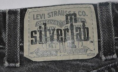 Mens Vintage Black LEVIS Silver Tab Stonewashed Loose Denim Jean Shorts size 31