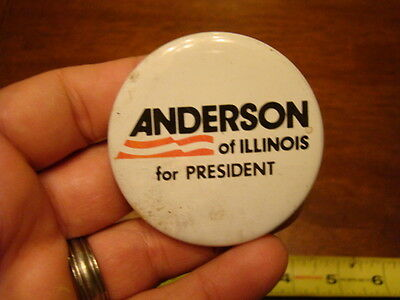 1980 ANDERSON of ILLINOIS FOR PRESIDENT Campaign  Button