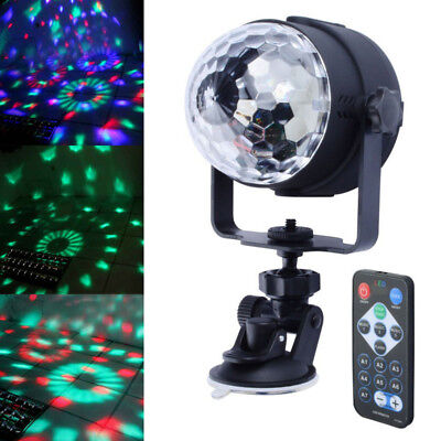 RGB LED DJ Disco Party Kristall Ball Stage Lighting + Voice Remote + USB