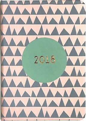 2018 A5 Carnegie Diary Day to A Page - Triangle Pattern