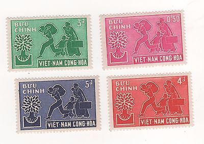 1960 South VIETNAM WORLD REFUGEE YEAR - Full Set x 4 SG#S107- S110 mint MM MH