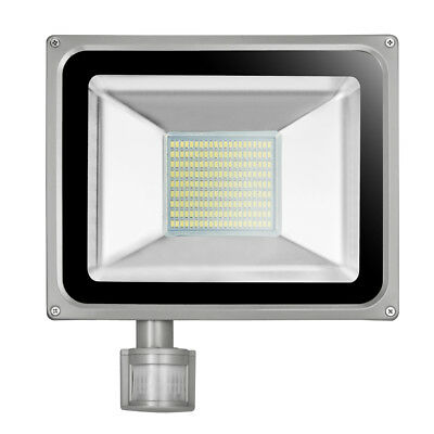 100W  LED Cool White Floodlight Motion Sensor Security Flood Light Outdoor