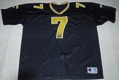 90S New Orleans Saints Wuerffel Jersey Champion Black Nfl American Football 7 Xl