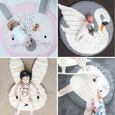 Cute Soft Cotton Baby Kids Game Gym Activity Play Mat Crawling Blanket Floor Rug