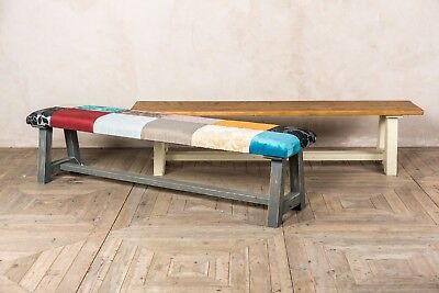 9Ft Reclaimed Rustic Pine Bench With A Painted Base More Sizes Available