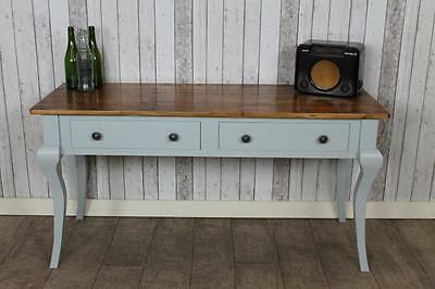 Rustic Pine 7Ft Console Table Sideboard With A Painted Base The Florence