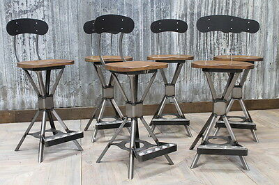 Industrial Style Machinist Stool Uk Manufactured Stool With Back Low Bar Stool
