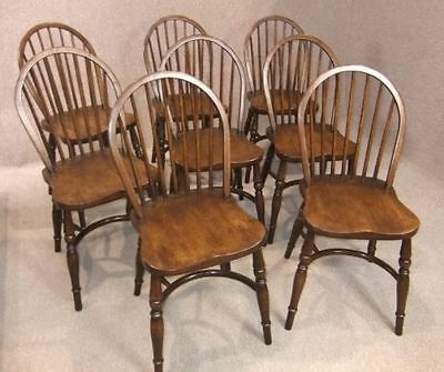 Hand Polished Solid Oak Stick Back Dining Chair Kitchen Chair