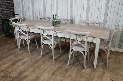 180Cm Handmade Shabby Chic Country Farmhouse Pine Kitchen Dining Table Rustic