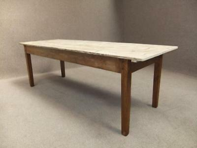Scrub Top Kitchen Farmhouse Pine Table 250Cm