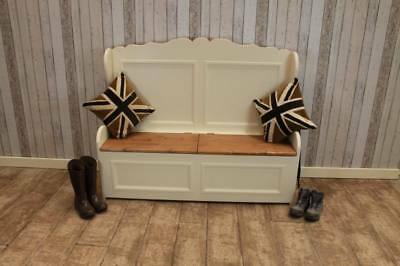 Large 6Ft Shabby Chic Pine Settle Bench Pew Handmade In Great Britain Rustic