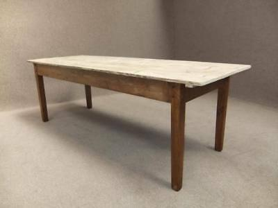PINE FARMHOUSE SCRUB TOP KITCHEN TABLE 280cm