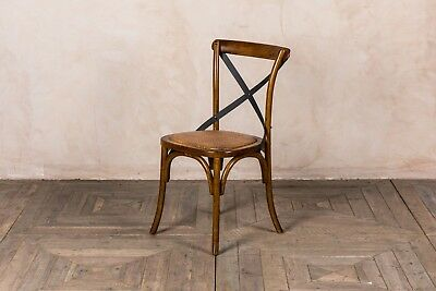 Solid Oak Bentwood Cross Back Gainsborough Chair With Metal Cross Back