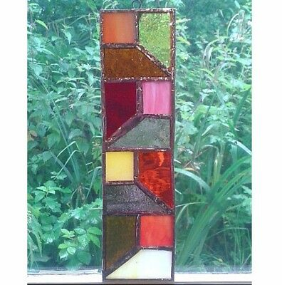 STAINED GLASS SUNCATCHER. Handmade by The Stained Glass Panel Studio.
