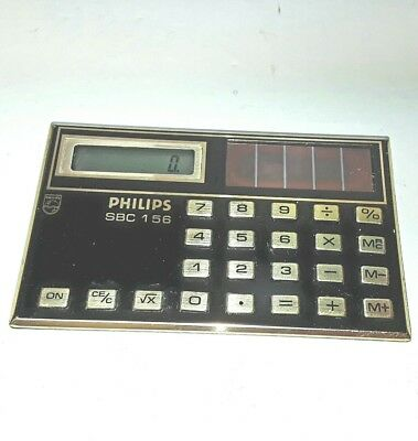 Vintage Calculator Philips SBC 1 56 Small Old Retro Works