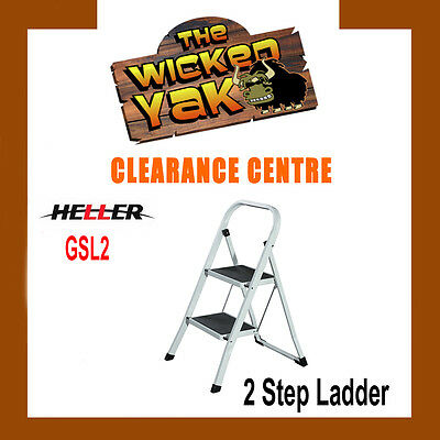 Portable 2 Step Lightweight/Stool/Folding Non-Slip Foldable Ladder FREE SHIPPING