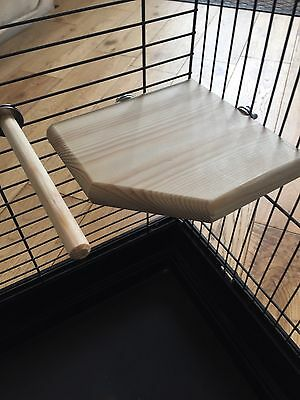 natural wood Corner platform and perch for budgies,canaries and finches