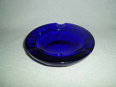 PADEN CITY Glass GEORGIAN COBALT BLUE Line 69 ASHTRAY, Free U.S. Ship