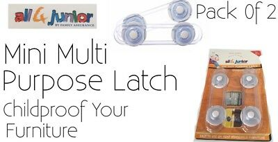 Multi Purpose Latch Child Safety By all 4 junior 2pack New Free Delivery