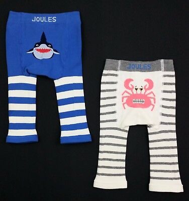 Baby Boys JOULES 2 Pack Lively Leggings/Joggers/Trousers Age 0-6 Mths BNIP