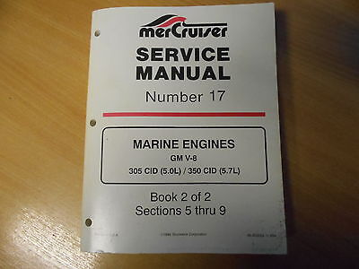 .  Service manual MERCRUISER Marine engines GM V8 305 / 350 CID 5.0 5.7L Band 2