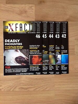 """The X Factor Magazine """"paranormal""""mysteries""""ufo's""""Issues 42 - 46"""
