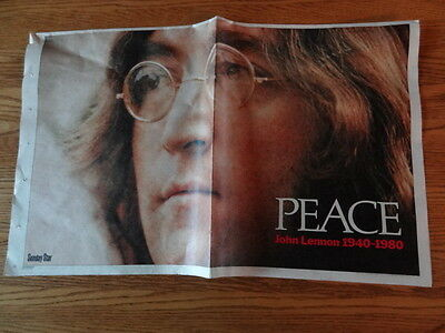 John Lennon - Peace - Toronto Star 8 Page Memorial Tribute December 14 1980