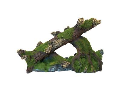 Moss Covered Tree & Rocks Aquarium Decoration Fish Tank Vivarium Ornament