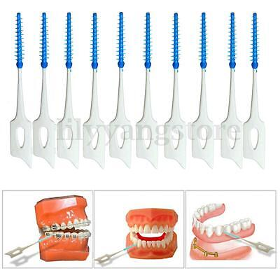 40Pcs Dental Teeth Oral Care Floss Clean Brushes Interdental Cleaning Tool Uk
