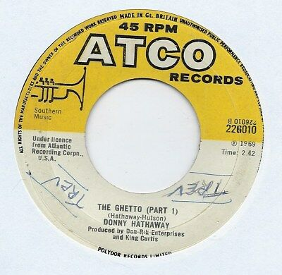 "Donny Hathaway - The Ghetto - 7"" Single"