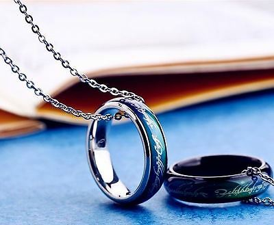 Lord of the Rings Mood Ring band Hobbit colour changing size J-T