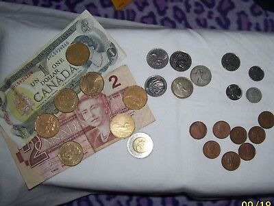 Mixed Lot Of Canadian Money