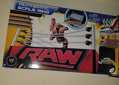 WWE Authentic Scale Ring - Mattel - Playset for Wrestling Figures