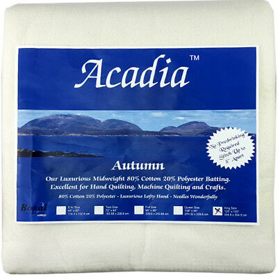 NEW Bosal 3509-04 | Acadia Cotton Polyester Batting | 304.8x304.8cm | FREE POST