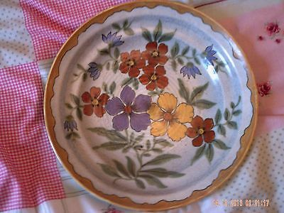 Antique Gouda Holland Fruit Bowl & 8 Plates.Circa 1950